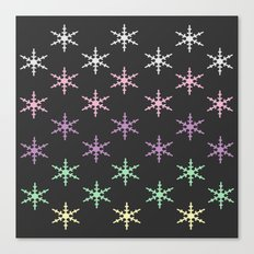 colorful snow pattern Canvas Print