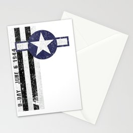 D-Day Normandy  Invasion Stripes & Air Corps Roundel Vintage T-Shirt Stationery Cards