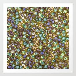 Olivine Garden Party Floral Art Print
