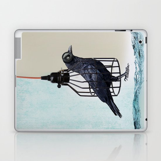 bird in the wire Laptop & iPad Skin