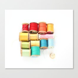 Colorful Needle and Thread Canvas Print