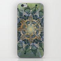 chakra iPhone & iPod Skins featuring Heart Chakra by brenda erickson