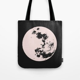 Full moon in pink Tote Bag