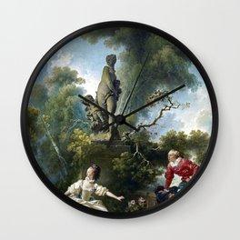 Jean-Honoré Fragonard The progress of love The Meeting Wall Clock