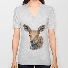 Little Moose by Teresa Thompson Unisex V-Neck