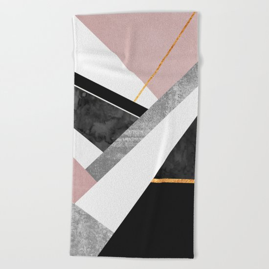 Lines & Layers 1 Beach Towel