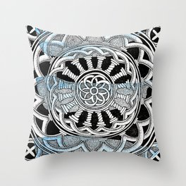 Cathedral mandala Throw Pillow