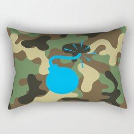 CAMO & LIGHT BLUE BOMB DIGGITY Rectangular Pillow