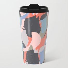 Modern abstract print Metal Travel Mug