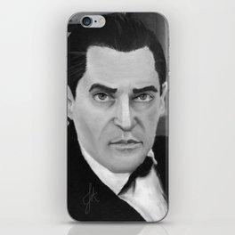 J. Brett as Sherlock Holmes Black and White iPhone Skin