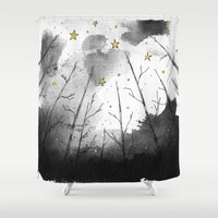 woods Shower Curtains featuring Woods by Dnzsea