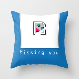 Talk Nerdy to me - Missing you Throw Pillow