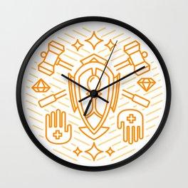 Paladin Emblem Wall Clock
