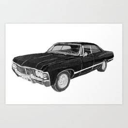 '67 Chevy Impala (w/o background) Art Print
