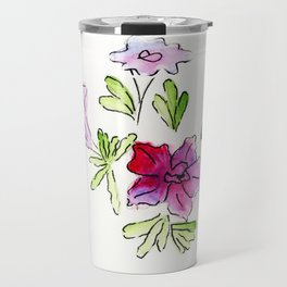 Joyful Petunias Travel Mug