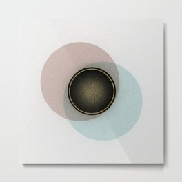 Minimalistic Vintage Design with gold accents Metal Print