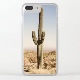 Giant Desert Cactus Clear iPhone Case