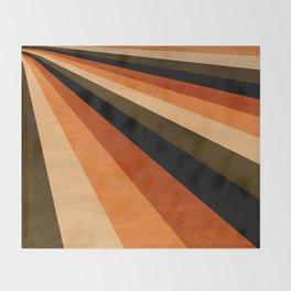 Autumn Stripes Throw Blanket