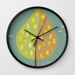 Alphapet Tree Wall Clock