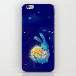 Hug a moon iPhone Skin