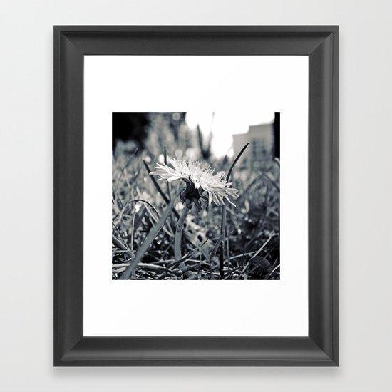 South Park dandelion Framed Art Print