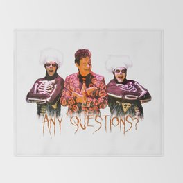 David S. Pumpkins - Any Questions? Throw Blanket