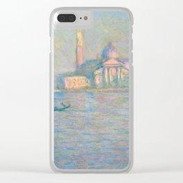 """Claude Monet """"The Church of San Giorgio Maggiore, Venice"""" Clear iPhone Case"""