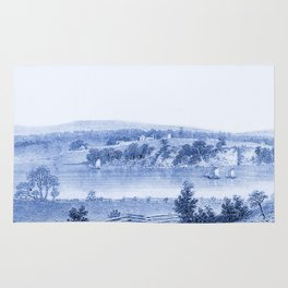 Lake Champlain 1850 (Cyan Blue) Rug