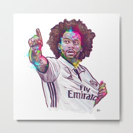Real Madrid Marcelo Metal Print