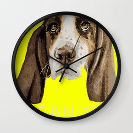 I can Fly Hound Animal Portrait Wall Clock