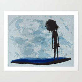 overlooking Art Print