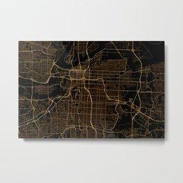 Kansas city map Metal Print