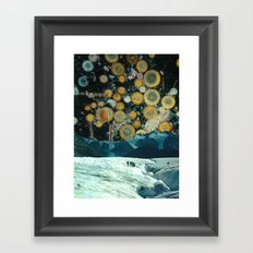 Welcome to space party Framed Art Print