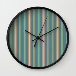 Retro Stripes Green and Orange Wall Clock