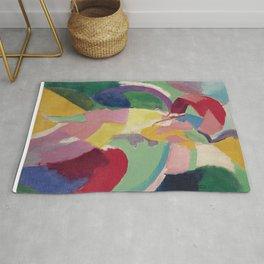 La Parisienne - Robert Delaunay - Art Poster Rug