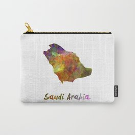 Saudi Arabia in watercolor Carry-All Pouch