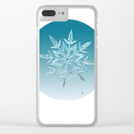 Blue Green Ice Crystal Clear iPhone Case