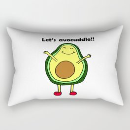 Let's avocuddle!! Rectangular Pillow