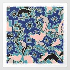 African Geometric Motifs Pattern Art Print