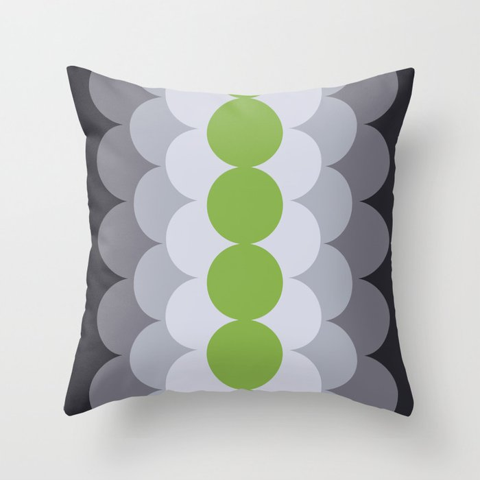 Gradual Greenery Throw Pillow