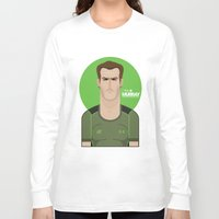 murray Long Sleeve T-shirts featuring Andy Murray Tennis Illustration by Gary  Ralphs Illustrations