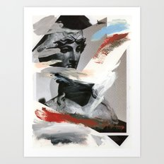 Untitled (Painted Composition 4) Art Print