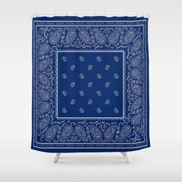 Classic Navy Blue with Gay Bandana Shower Curtain