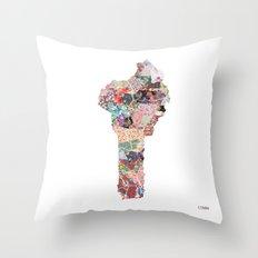 Benin map Throw Pillow