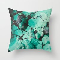 turquoise Throw Pillows featuring Turquoise  by Laura Ruth