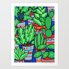 Plants more plants Art Print