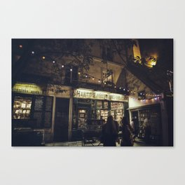 Bookstore with charm Canvas Print
