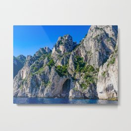 The White Grotto of the island of Capri, Italy off Naples and the Amalfi Coast Metal Print