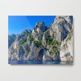 The White Grotto of the island of Capri, Italy off Naples and the Amalfi Coast Metal Print
