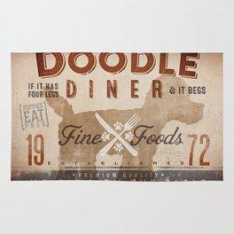Doodle Diner Dog Kitchen artwork by Stephen Fowler Rug